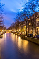 Amsterdam Canals sunset