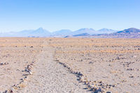 Chile Atacama desert trail to volcano Lascar