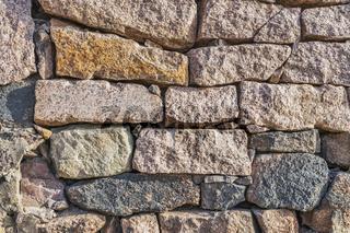 Bruchsteinmauer   rubble wall