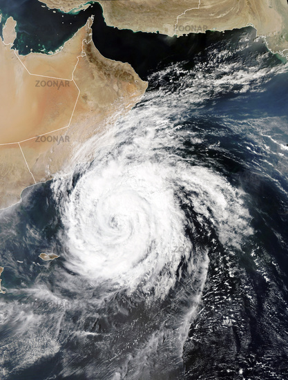 Cyclones Luban and Titli, Indian Ocean. Elements of this image furnished by NASA