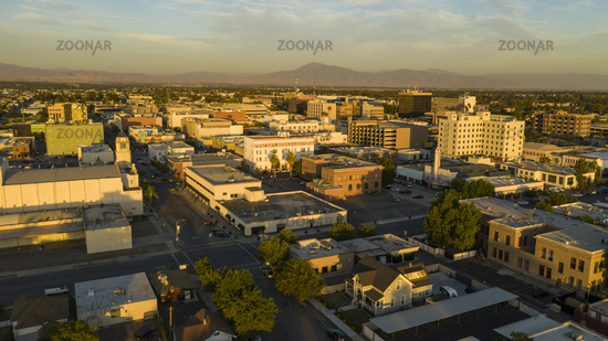 Late Afternoon Sun Hits the Architecture and Landscape in and around Bakersfield California