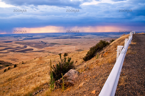 A view of the Palouse from the top of Steptoe Butte in eastern Washington