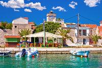 Colorful waterfront of Krapanj island