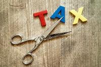 Cut of tax Concept