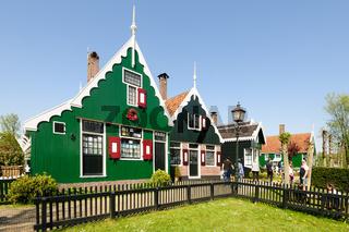 Traditional Dutch village houses in Zaanse Schans, Netherlands