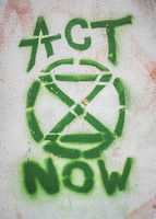 Graffiti Of Extinction Rebellion Logo