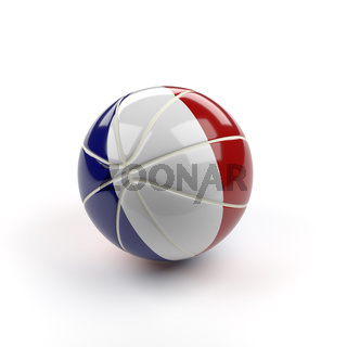 Basketball with the flag of France