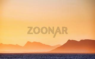 Sonnenuntergang in Hermanus, Südafrika - Sunset at Hermanus, South Africa
