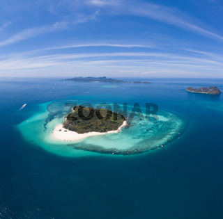 Aerial view of beautiful Bamboo Island in Thailand