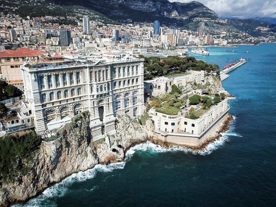 View of Monaco harbor Fontvieille