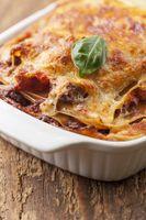 Nahaufnahme von Lasagne