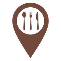 Besteck und Kartenmarkierung - Cutlery and location pin