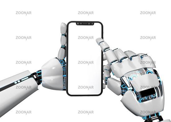 Robot Hands Smartphone