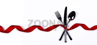 Cutlery set and ribbon