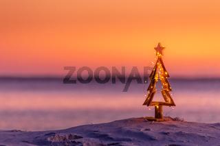 Coastal summer Christmas in Australia