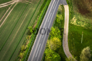 Highway asphalt road seen from above
