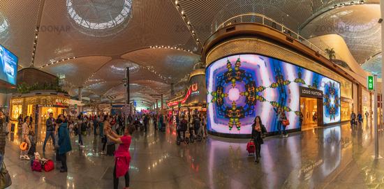 New Istanbul Airport, interior panorama