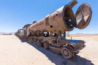 Bolivia Uyuni steam boiler of an old abandoned train