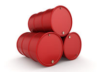 3D rendering red barrels