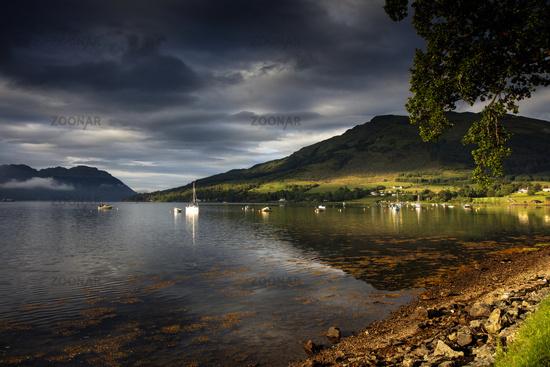 Loch Goil in the scottish highlands