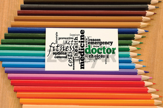Doctor word cloud collage