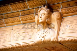 Terracotta Reliefs in der Jugendstilanlage Sprudelhof