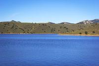View at the Lake, riverside of the storage reservoir Embalse de La Serena