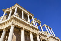 Detail of a Roman theatre, was seen in Merida