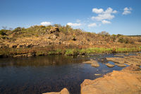 River at Bourke Luck Potholes, Blyde River Canyon, South Africa