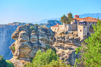 Scenic view of Monastery in Greece