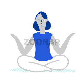 A girl practice yoga for her spiritual equilibrium