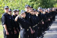 Young policemen and policewomen