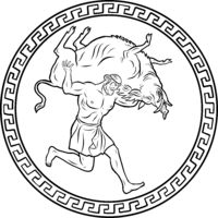 Erymanthian Boar. 12 Labours of Hercules Heracles