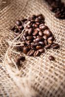 burlap coffee beans