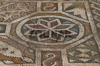 Mosaic floor. Roman mosaic in the oldest city in Europe. Depiction, civilisations.
