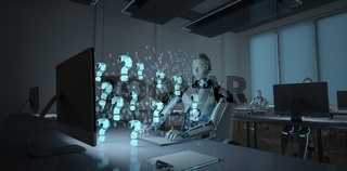 Humanoid Robot Open Space Office Questions