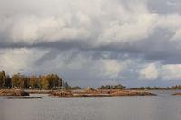 Dramatic sky over Lake Vanern.