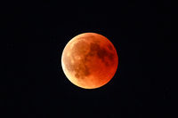 Total red lunar eclipse
