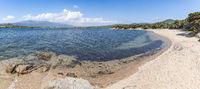 Wild sandy beach, Figari, Corsica, France (panoramic)