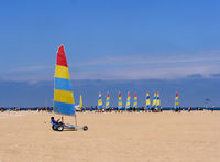 Beach sailors in Ouistreham