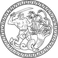 Lernaean Hydra. 12 Labours of Hercules Heracles