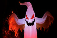 Inflatable Winged Ghost Glowing in the Dark for Halloween Spirit.