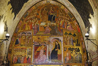 mural painting, Basilica Santa Maria degli Angeli, Assisi, Italy, Europe