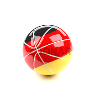 Basketball with the flag of Germany