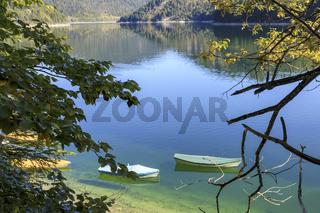 Herbst am Sylvenstein-Stausee, Landschaftsbild