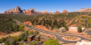 Over Red Rock Country Sedona Arizona Looking into Munds Park