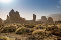 Roques de Garcia. The Roque Cinchado, a unique Rock Formation in Teide National Park, Tenerife, Spain