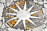 Sun in marble