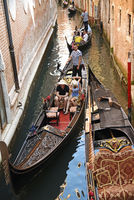 Tourists, gondolier, gondola, canal, Venice, Italy, Europe