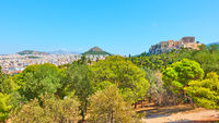 Panorama of Athens city